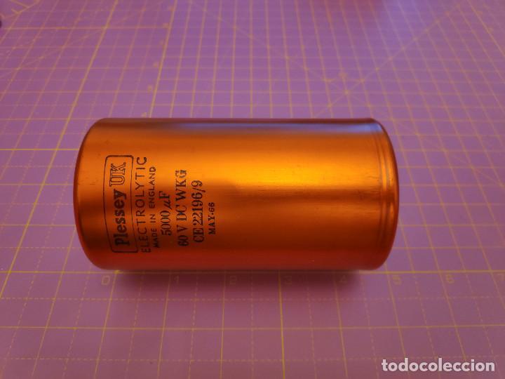 Radios antiguas: 1 condensador electrolítico 5000 microfaradios 60V - Plessey - Nuevo - Foto 3 - 217415746