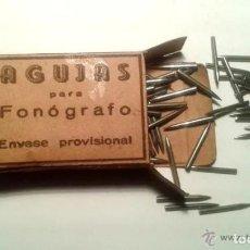 Rádios antigos: CAJA DE AGUJAS PARA GRAMOFONO O GRAMOLA - 25 AGUJAS. Lote 230912535