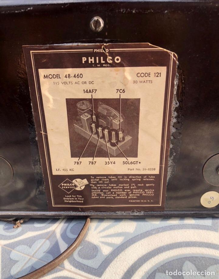 Radios antiguas: Radio antigua philco 48-460. Más poniendo USMO . - Foto 4 - 218311813