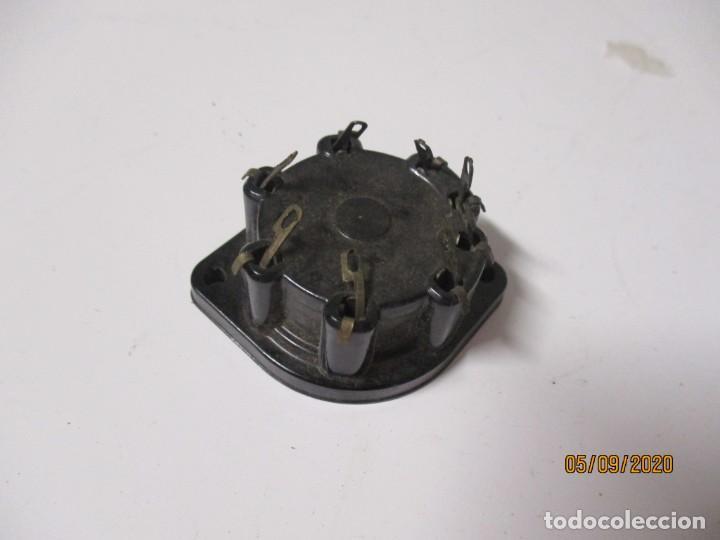 Radios antiguas: Portalamparas soporte zocalo DE BAQUELITA para valvula - Foto 2 - 218545378