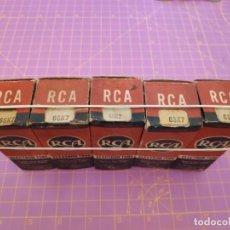 Radios antiguas: CINCO UNIDADES VÁLVULA 6SK7 - RCA - NOS - LOTE 1. Lote 221172101