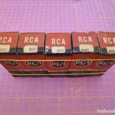Radios antiguas: CINCO UNIDADES VÁLVULA 6SK7 - RCA - NOS - LOTE 2. Lote 221172111