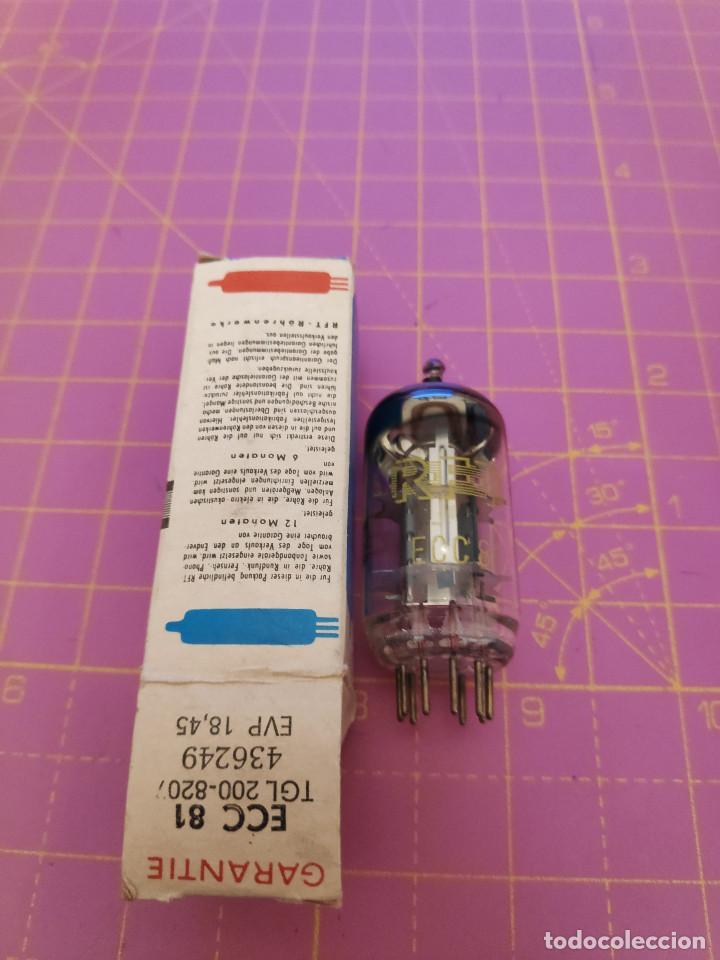 1 UNIDAD VÁLVULA ECC81 = 12AT7 - RFT - NUEVA - PROBADA (Radios, Gramófonos, Grabadoras y Otros - Repuestos y Lámparas a Válvulas)