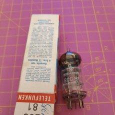 Radios antiguas: 1 UNIDAD VÁLVULA ECC81 = 12AT7 - SIEMENS - NUEVA - PROBADA. Lote 221281310
