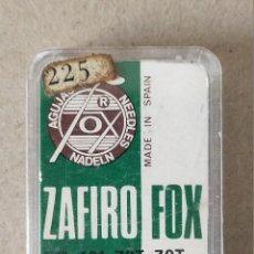 Rádios antigos: AGUJA TOCADISCOS, MARCA ZAFIRO FOX TIPO 191 ZST - ZST DUAL - 1 UNIDAD. Lote 223113406