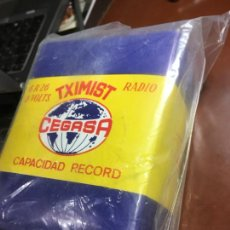 Radios antiguas: PILA BATERIA PARA RADIO CEGASA TXIMIST FABRICADA EN ESPAÑA VITORIA. BOLSA ORIGINAL 7 X10X13,50. Lote 227834185