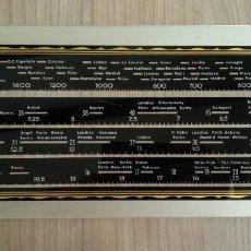 Radios antiguas: ELECTRONICA, PIEZA PARA RADIO, DIAL EMISORAS DE CRISTA, TIENE UNA PUNTA UN POCO ROTA. Lote 228803700