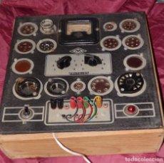 Radios antiguas: COMPROBADOR DE VALVULAS DE RADIO MAYMO + LIBRITO DE INSTRUCCIONES. Lote 230463715