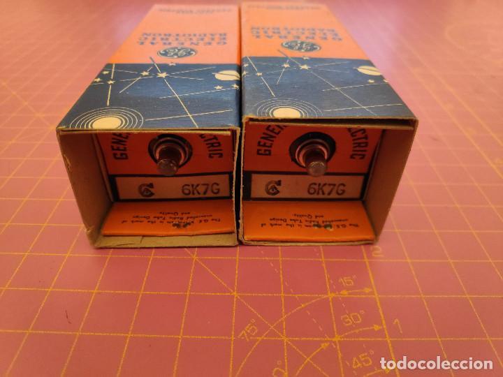 DOS UNIDADES DE LA VÁLVULA 6K7 G - GENERAL ELECTRIC RADIOTRON - NOS (Radios, Gramófonos, Grabadoras y Otros - Repuestos y Lámparas a Válvulas)