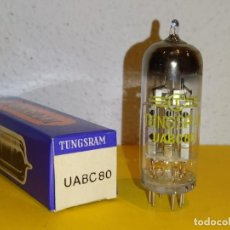 Radios antiguas: 1 X UABC80-TUNGSRAM-NUEVA-NOS-TUBE.. Lote 235114890