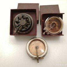 Radios Anciennes: 3 CABEZALES, MAMBRANAS AGUJA DE GRAMOFONO ANTIGUAS. Lote 235156560