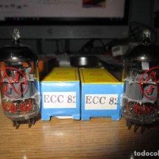 Radios antiguas: PAREJA VALVULAS ECC82 NUEVAS. Lote 236431340