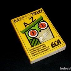 Rádios antigos: GUÍA DE EQUIVALENCIAS DE TRANSISTORES - ECA - 79/80.. Lote 242849955