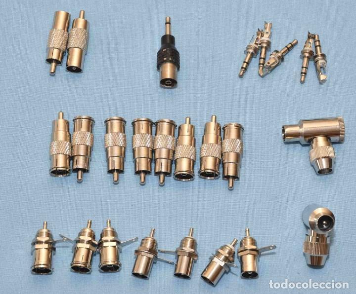 25 CONECTORES VARIOS: ANTENA - JACK - ADAPTADORES.... (Radios, Gramófonos, Grabadoras y Otros - Repuestos y Lámparas a Válvulas)