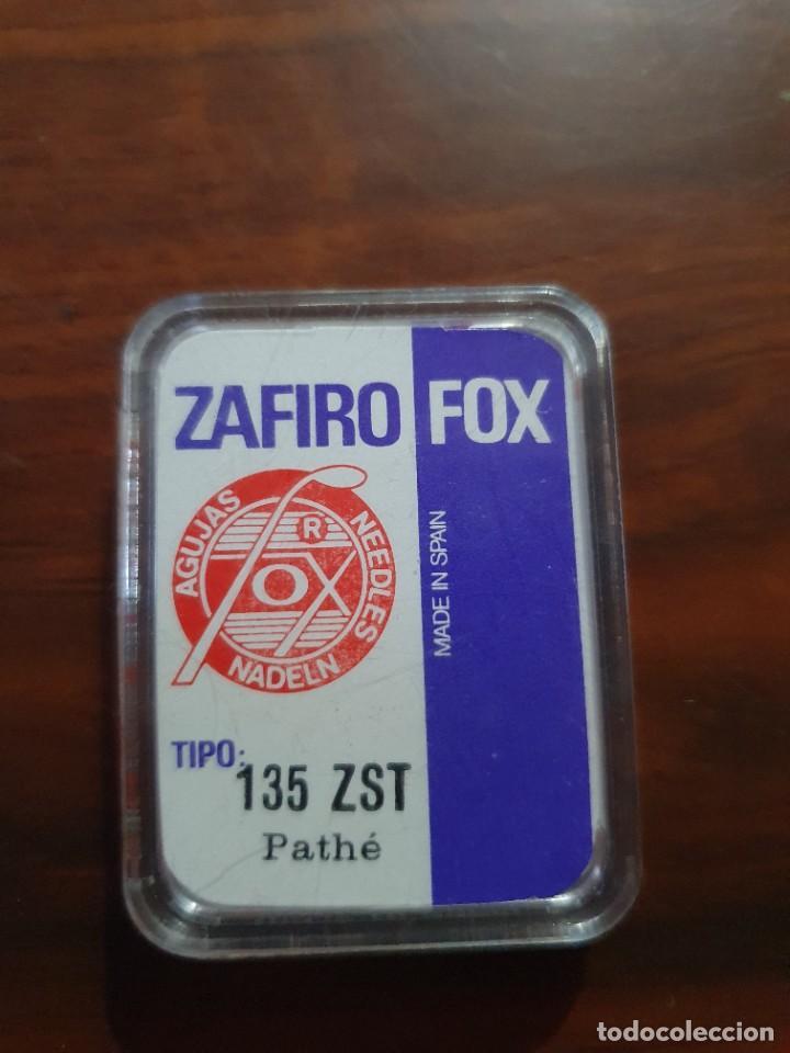 Radios antiguas: Aguja tocadiscos zafiro fox 135 ZST pathe - Foto 2 - 254433050