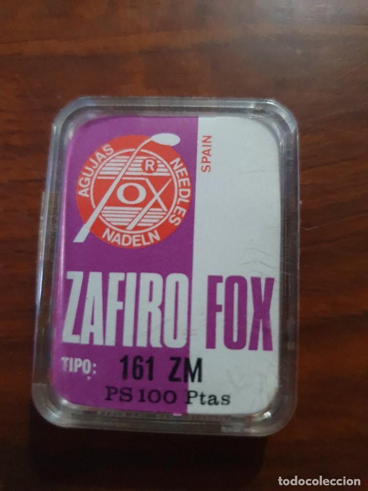 Radios antiguas: Aguja tocadiscos zafiro fox 161 ZM - Foto 2 - 254433245