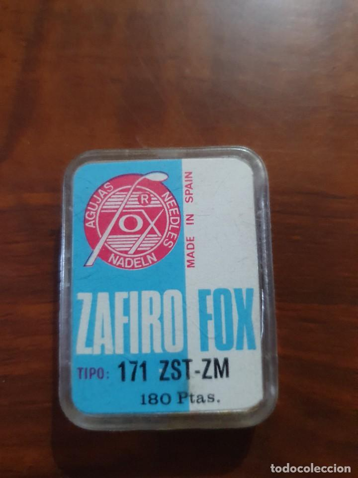 Radios antiguas: Aguja tocadiscos zafiro fox 171 ZST-ZM - Foto 2 - 254433440