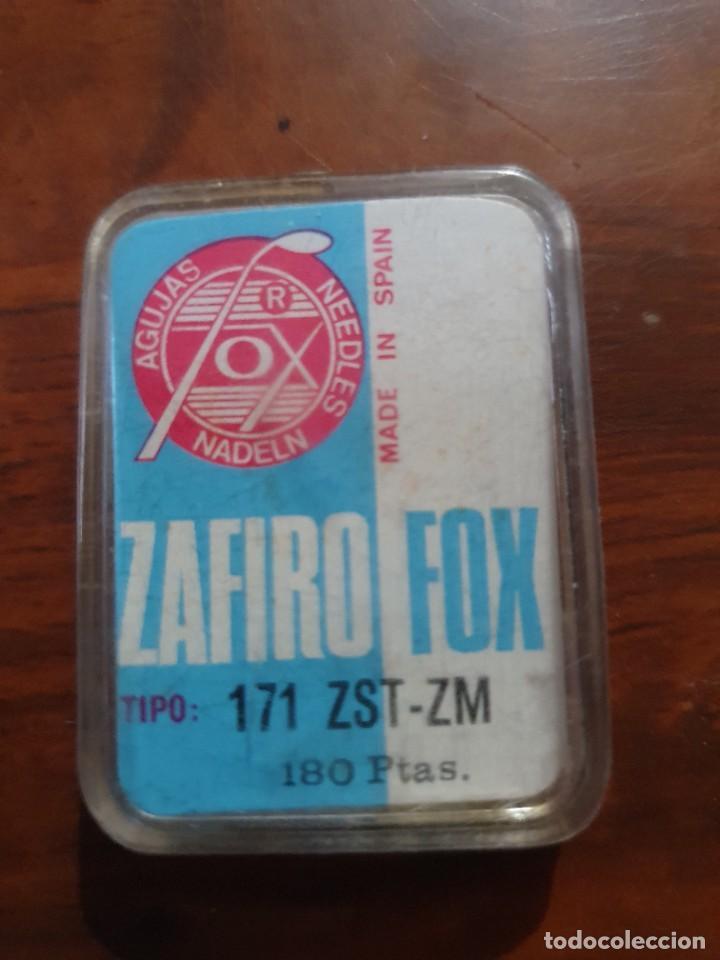 Radios antiguas: Aguja tocadiscos zafiro fox 171 ZST-ZM - Foto 2 - 254433535