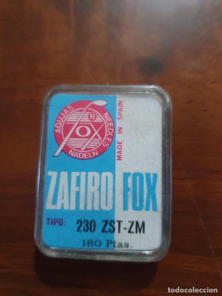 Radios antiguas: Aguja tocadiscos zafiro fox 239 ZST-ZM - Foto 2 - 254434010