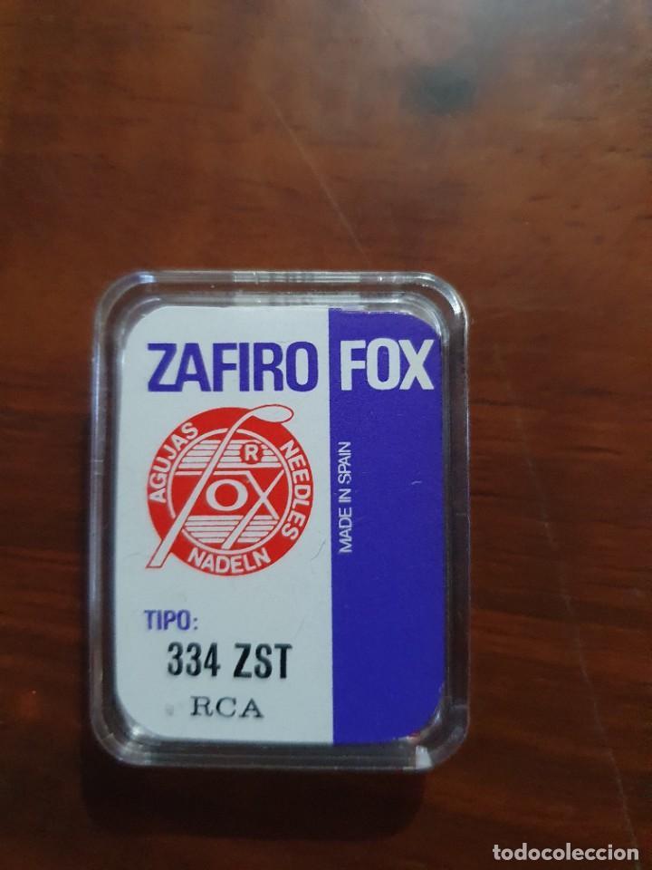 Radios antiguas: Aguja tocadiscos zafiro fox 334 ZST RCA - Foto 2 - 254434145