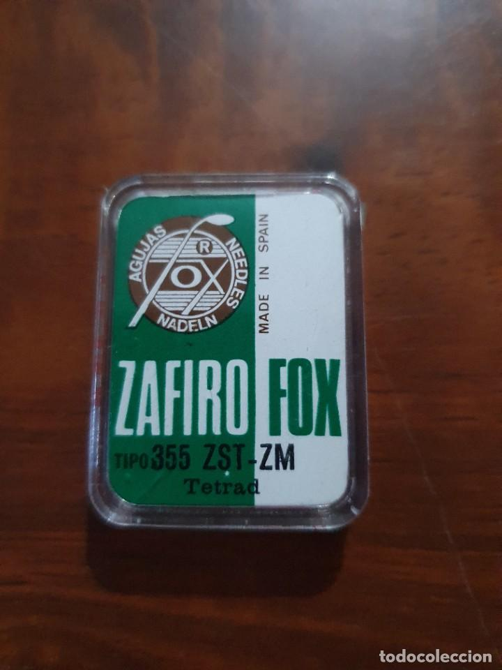 Radios antiguas: Aguja tocadiscos zafiro fox 355 ZST-ZM - Foto 2 - 254434330