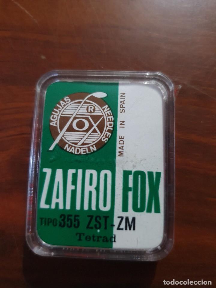 Radios antiguas: Aguja tocadiscos zafiro fox 355 ZST-ZM - Foto 2 - 254434410