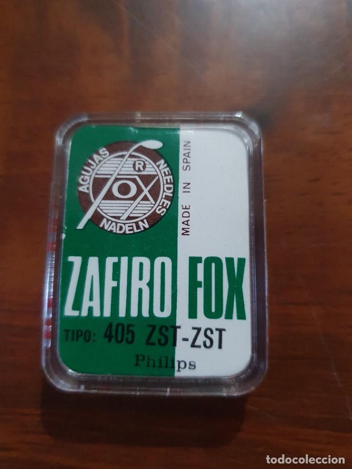 Radios antiguas: Aguja tocadiscos zafiro fox 405 ZST-ZST - Foto 2 - 254434740
