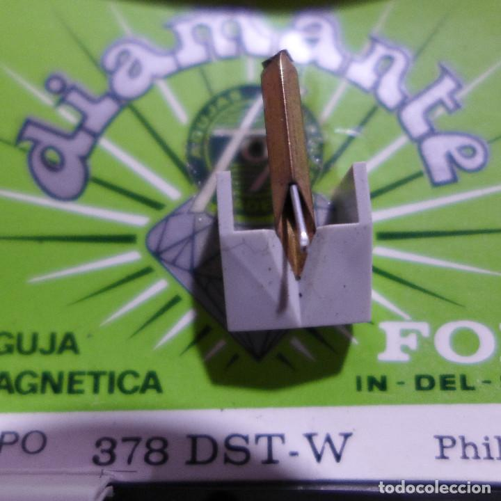 Radios antiguas: AGUJA MAGNETICA DIAMANTE FOX TIPO 378 DST-W PHILIPS - Foto 5 - 254646040