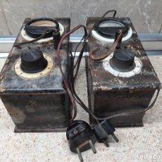 Radios antiguas: LOTE, TRANSFORMADOR ELEVADOR DE CORRIENTE SEVEIN FABRICADOS EN ASPE * FUNCIONANDO * VER FOTOS.. Lote 255449655
