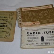 Radios antiguas: VINTAGE / ANTIGUOS - LOTE DE 3 PUBLICACIONES VARIADAS ESQUEMAS Y RADIOS, LÁMPARAS, TUBE ¡MIRA FOTOS!. Lote 260275715