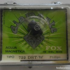 Radio antiche: 23,, AGUJA TOCADISCOS MAGNETICA DIAMANTE FOX 722 DST-W PARA PHILIPS. Lote 267773819