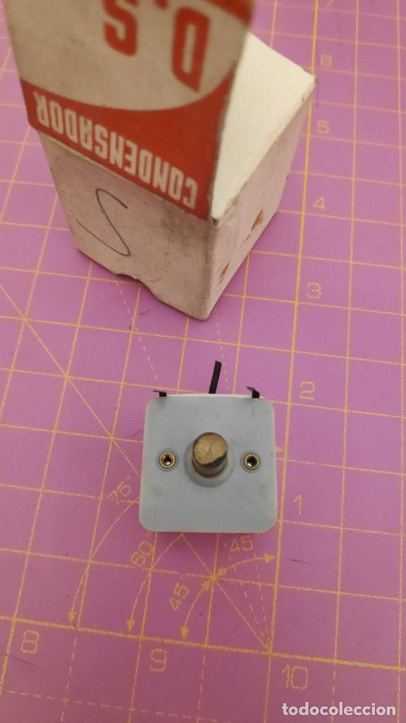 Radios antiguas: 1 Condensador variable para radio o galena AM 2 secciones - mediciones en las fotos - NOS - Foto 4 - 276988523
