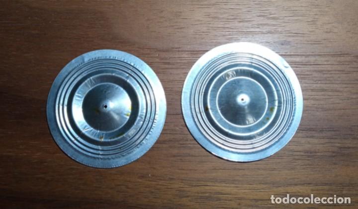 2 MEMBRANAS DE ALUMINIO PARA DIAFRAGMA DE GRAMOFONO O GRAMOLA - 55 MM DIAMETRO (Radios, Gramófonos, Grabadoras y Otros - Repuestos y Lámparas a Válvulas)