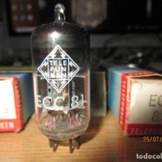 Radios antiguas: CUARTETO VALVULAS ECC81 TELEFUNKEN NUEVAS. Lote 277286008
