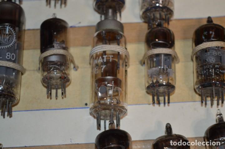 Radios antiguas: 28 Válvulas / Lámparas variadas / TELEFUNKEN, MARCONI, MINIWATT, VALVO, MULLARD y otras - Lote 01 - Foto 8 - 278281618
