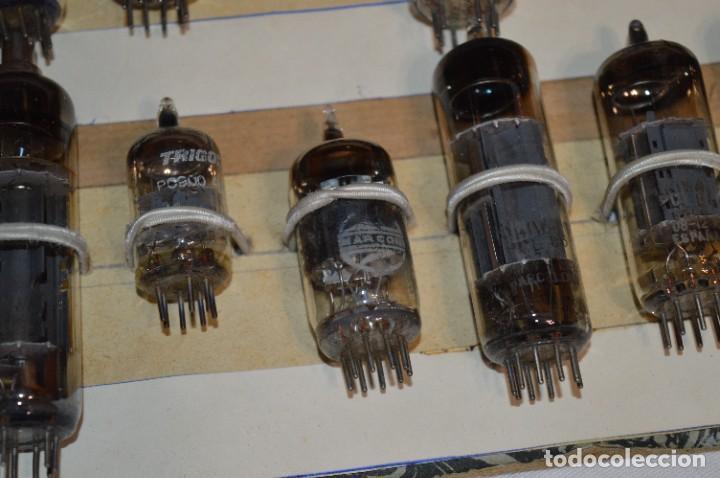 Radios antiguas: 28 Válvulas / Lámparas variadas / TELEFUNKEN, MARCONI, MINIWATT, VALVO, MULLARD y otras - Lote 01 - Foto 11 - 278281618
