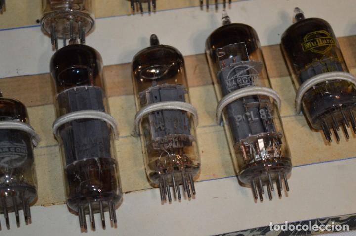 Radios antiguas: 28 Válvulas / Lámparas variadas / TELEFUNKEN, MARCONI, MINIWATT, VALVO, MULLARD y otras - Lote 01 - Foto 12 - 278281618