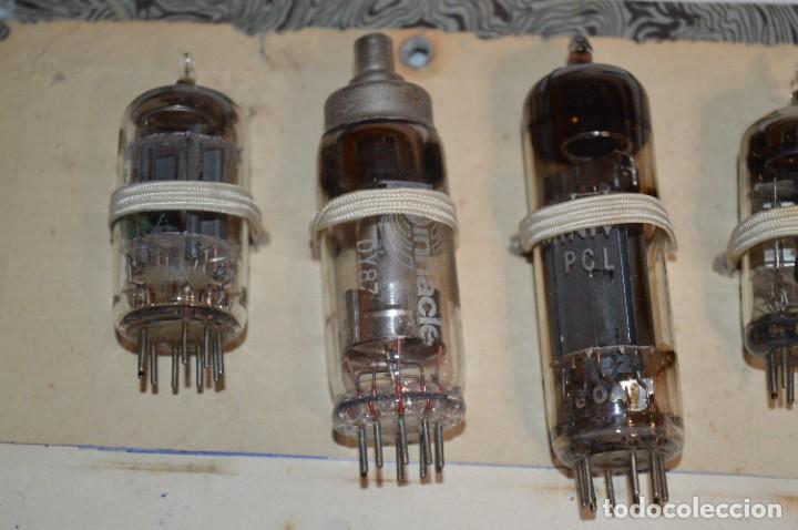 Radios antiguas: 30 Válvulas / Lámparas variadas / HALTRON, MARCONI, MINIWATT, VICTORIA, MULLARD y otras - Lote 03 - Foto 2 - 278286548