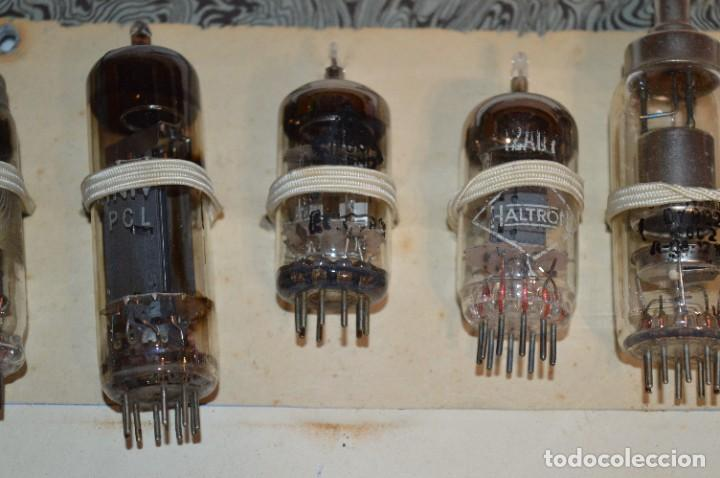 Radios antiguas: 30 Válvulas / Lámparas variadas / HALTRON, MARCONI, MINIWATT, VICTORIA, MULLARD y otras - Lote 03 - Foto 3 - 278286548