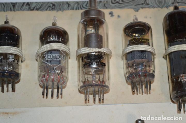 Radios antiguas: 30 Válvulas / Lámparas variadas / HALTRON, MARCONI, MINIWATT, VICTORIA, MULLARD y otras - Lote 03 - Foto 4 - 278286548