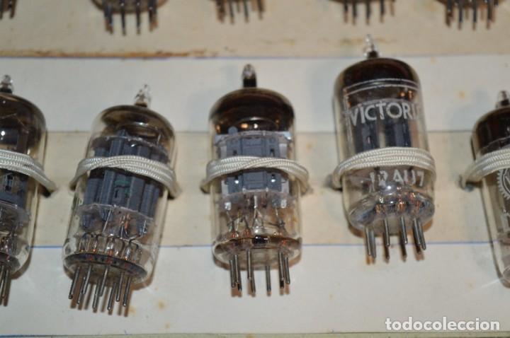 Radios antiguas: 30 Válvulas / Lámparas variadas / HALTRON, MARCONI, MINIWATT, VICTORIA, MULLARD y otras - Lote 03 - Foto 13 - 278286548