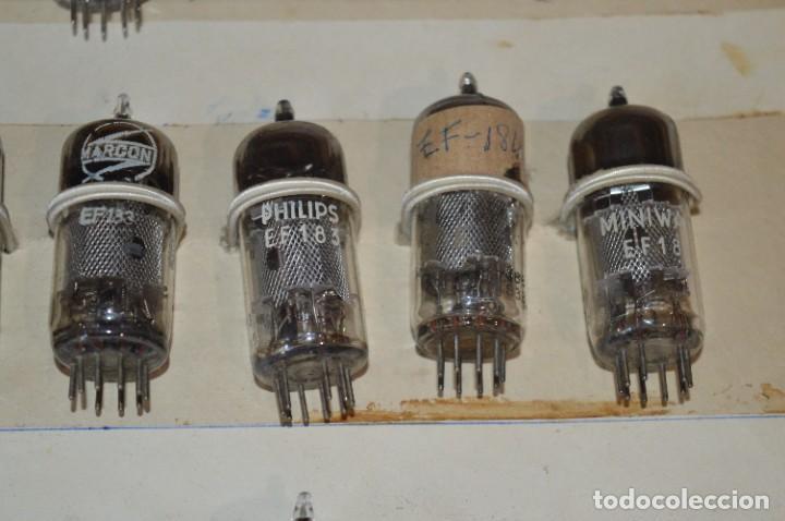 Radios antiguas: 26 Válvulas / Lámparas variadas / TELEFUNKEN, MARCONI, MINIWATT, PHILIPS, MULLARD y otras - Lote 02 - Foto 8 - 278284578
