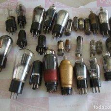 Radio antiche: LOTE DE 30 LAMPARAS VALVULAS BOMBILLAS RADIO SIN COMPROBAR. Lote 288568703