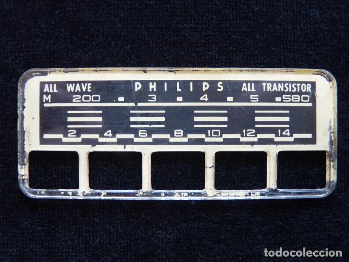 Radios antiguas: DESPIECE PARA RADIO TRANSISTOR PHILIPS. DIAL Y BOTONES (79) - Foto 3 - 288644643