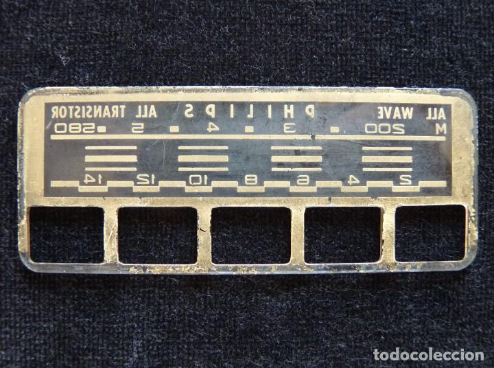 Radios antiguas: DESPIECE PARA RADIO TRANSISTOR PHILIPS. DIAL Y BOTONES (79) - Foto 4 - 288644643