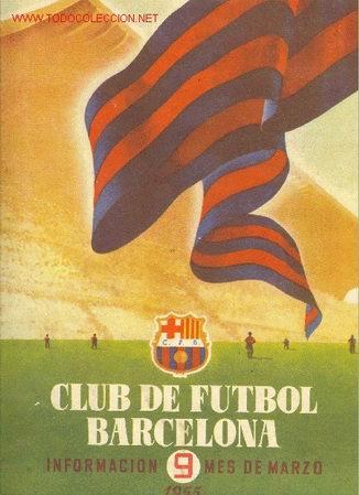 CLUB DE FUTBOL BARCELONA Nº 9 - MARZO 1955 (Coleccionismo Deportivo - Revistas y Periódicos - otros Fútbol)