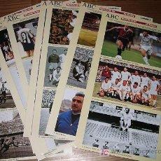 Coleccionismo deportivo: LOTE LAMINAS HISTORIA DE LAS 7 COPAS DE EUROPA DEL REAL MADRID ABC. Lote 12977770