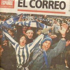 Coleccionismo deportivo: ALAVES A PRIMERA DIVISION DE FUTBOL / EL CORREO ESPAÑOL EL PUEBLO VASCO 4-6-98. Lote 22533312