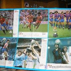 Coleccionismo deportivo: POSTER GIGANTE A DOBLE CARA RESUMEN-CALENDARIO TEMPORADA 1987-88. Lote 10089727
