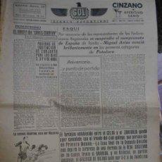 Coleccionismo deportivo: GOL DIARIO DEPORTIVO. AÑO II NÚM 205 LUNES 31 DE MARZO 1941. Lote 5564810